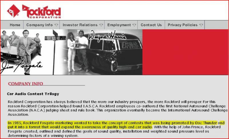 Doc Thunder-- RF Corp web site 2011